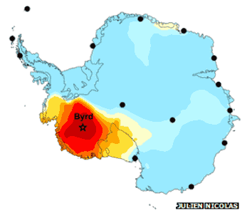 West Antarctic Ice Sheet warming twice earlier estimate